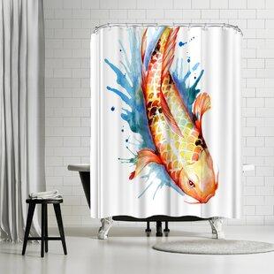 Sam Nagel Koi Fish 2 Shower Curtain