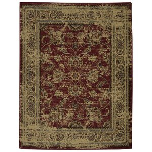 Lamberth Distressed Floral Red/Yellow Area Rug