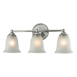 Tabetha 3-Light Glass Shade Vanity Light