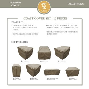 Coast Protective 10 Piece Water Resistant Patio Furniture Cover Set