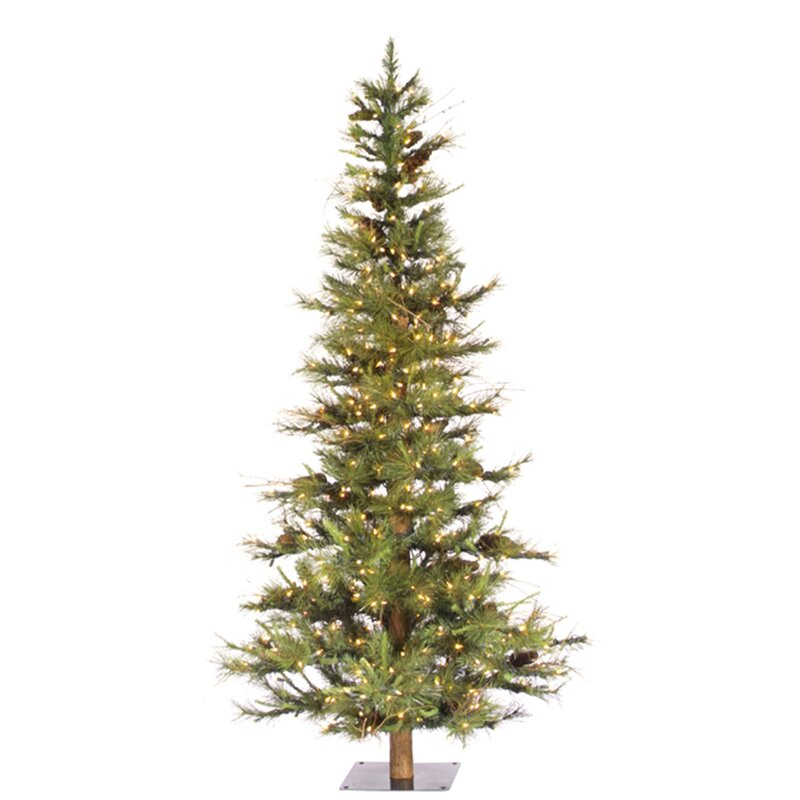 artificial christmas tree with 300 dura lit clear lights with stand - Artificial Christmas Trees With Lights