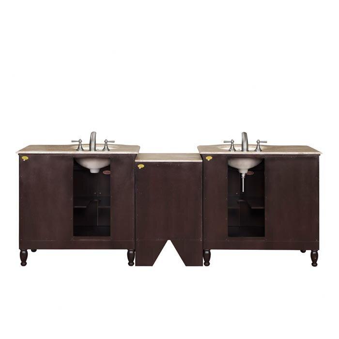 "Bathroom Vanity Lighting Hamilton silkroad exclusive hamilton 95"" double bathroom vanity set"