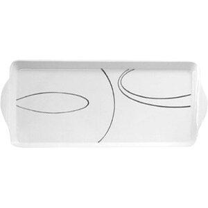 Simple Lines Melamine Tidbit Rectangle Serving Platter