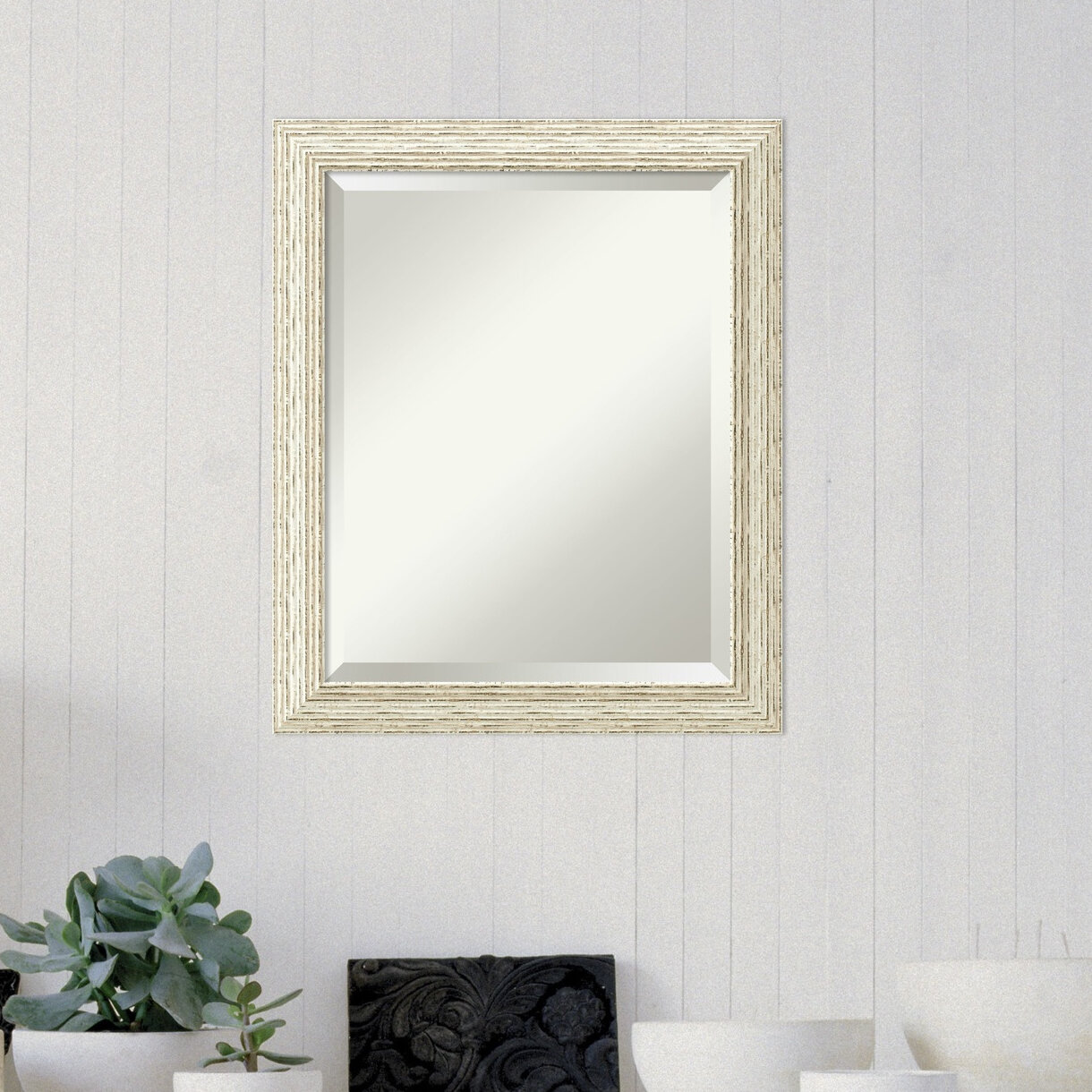 rosecliff heights accent rectangle white wood framed medium wall
