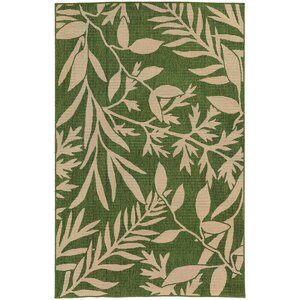 Seaside Green & Beige Indoor/Outdoor Area Rug