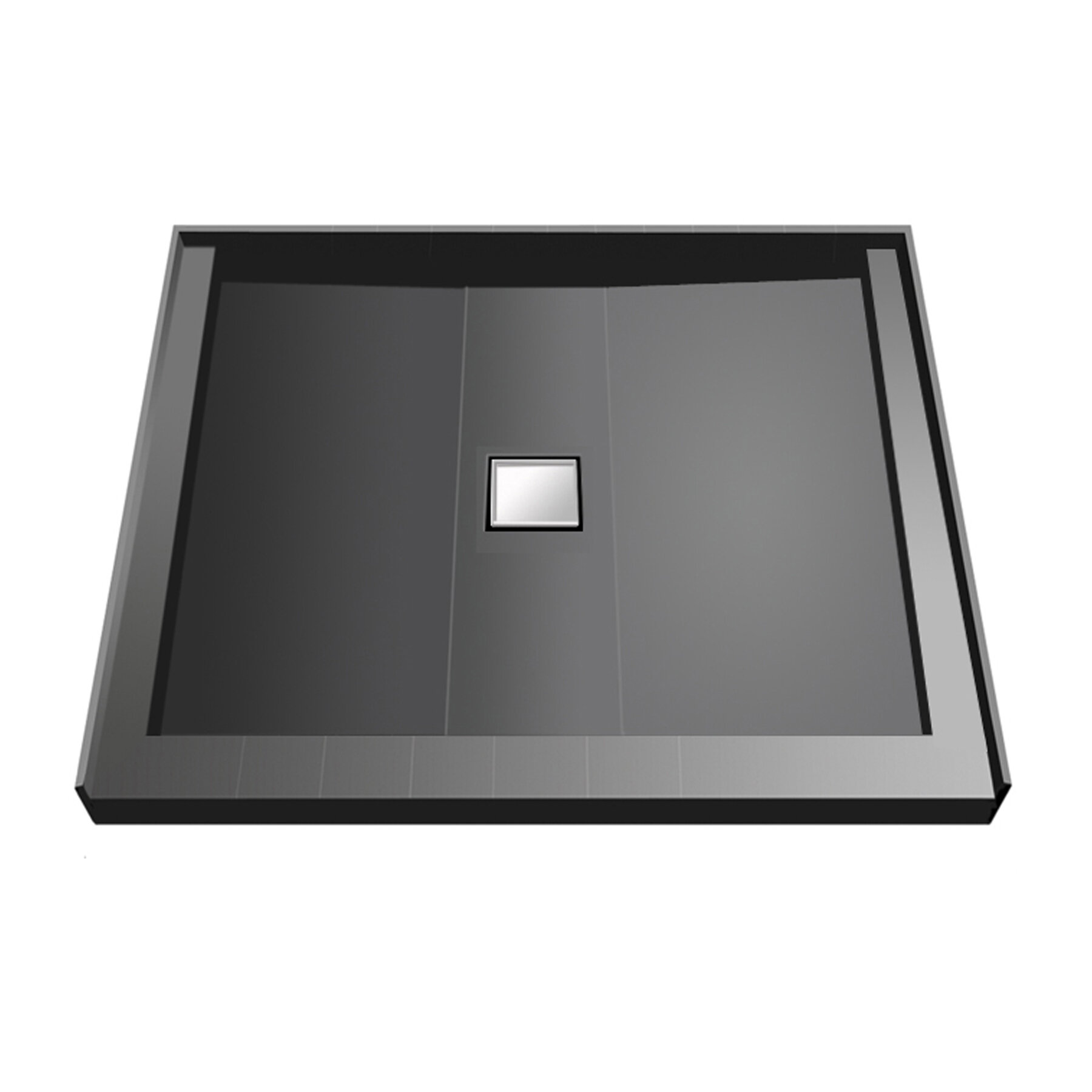 Tile Redi 36 X 36 Triple Threshold Shower Base With Drain Top