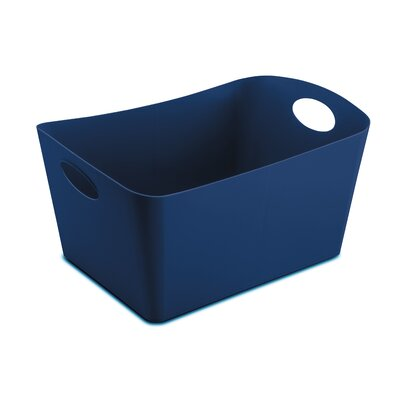 Turn on the Brights Rectangular Plastic Storage Bin Size: 4.25 H x 7.36 W x 5 D, Color: Navy