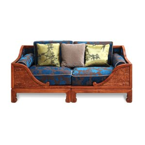 Hefty Over Lotus Pond Loveseat by Bloomsbury Market