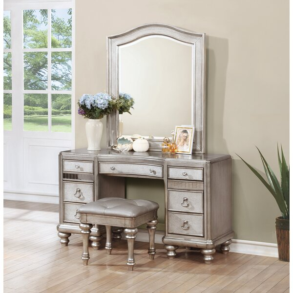 Willa Arlo Interiors Annunziata Vanity Desk Set Reviews