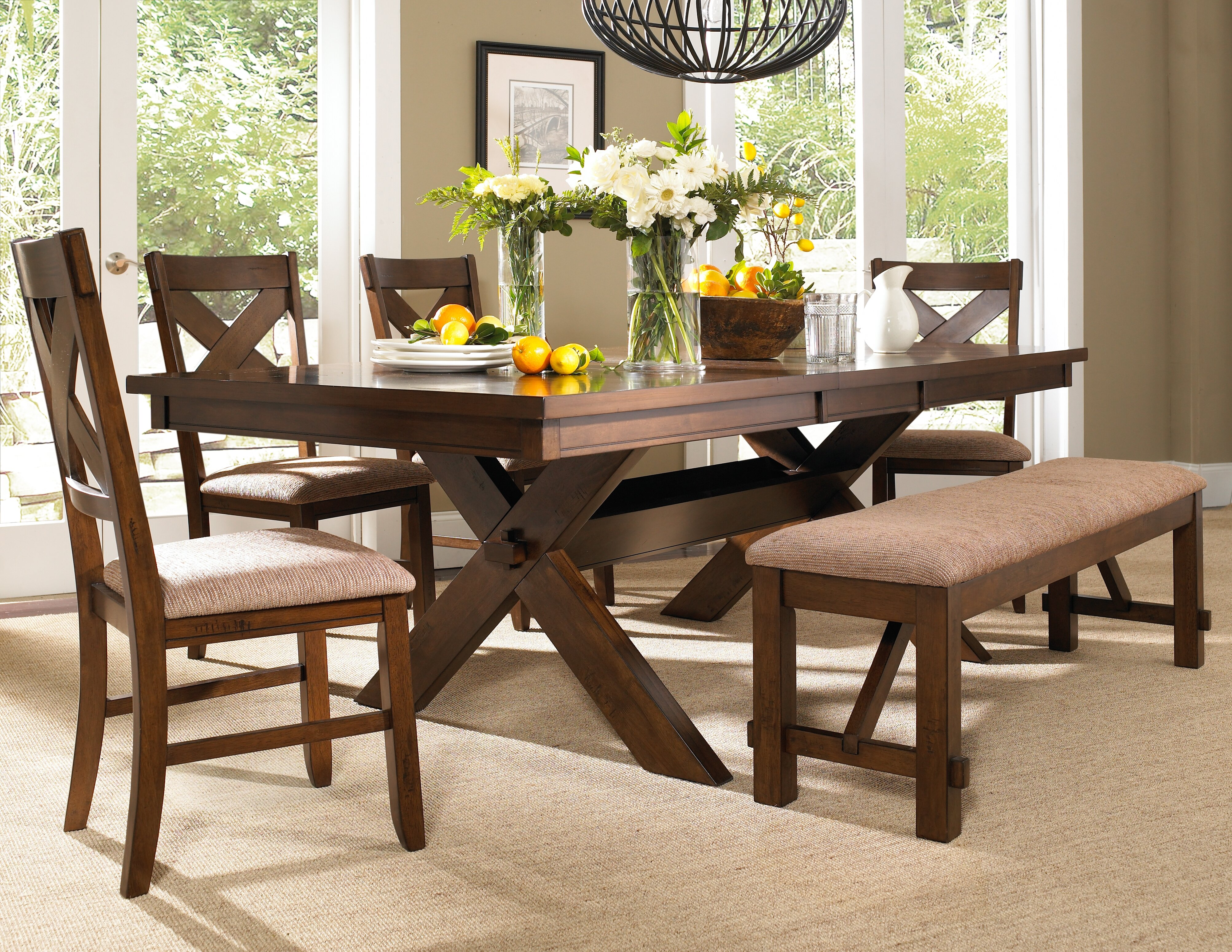 Laurel Foundry Modern Farmhouse Isabell 6 Piece Dining Set