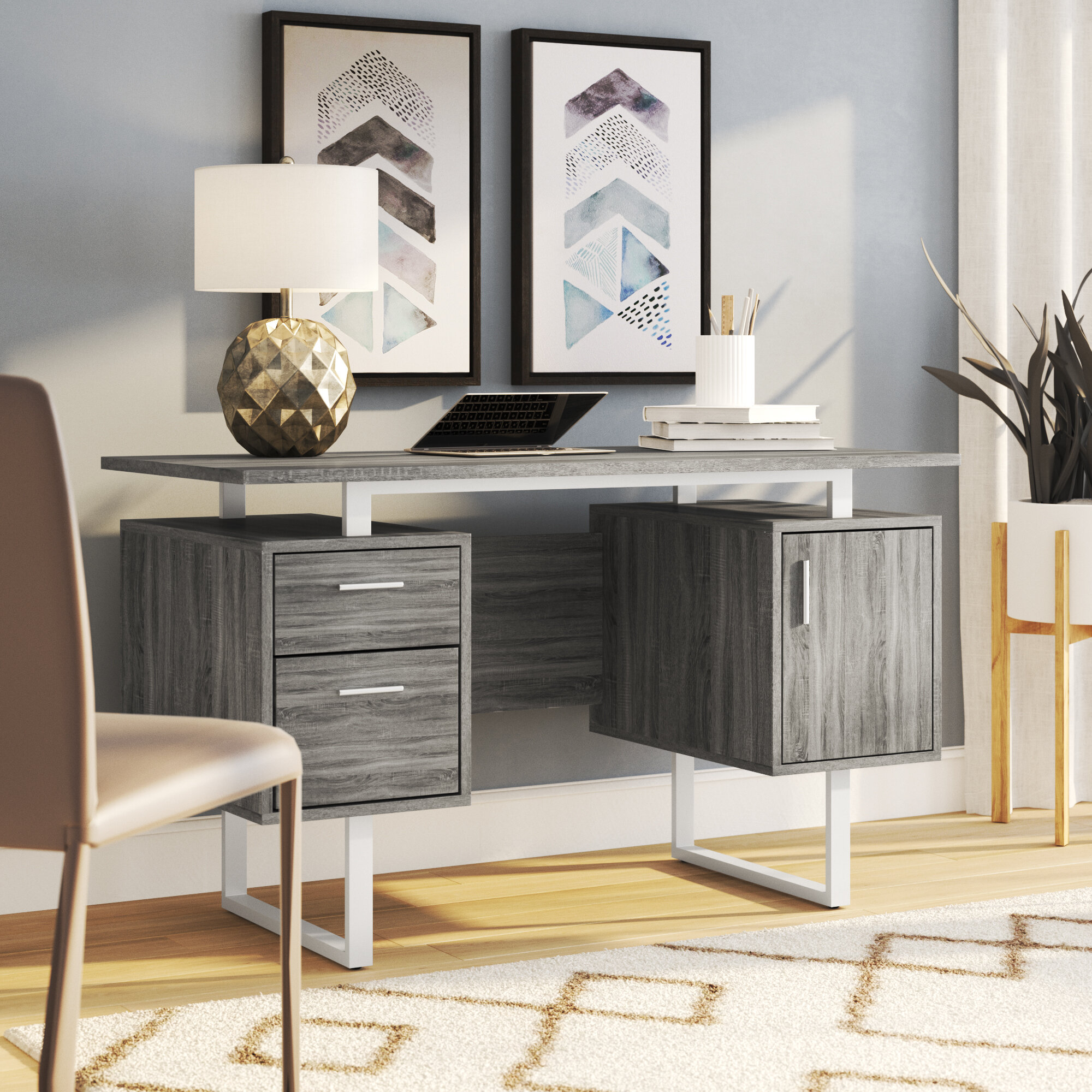 Ivy Bronx Conlon Modern Office Desk U0026 Reviews | Wayfair