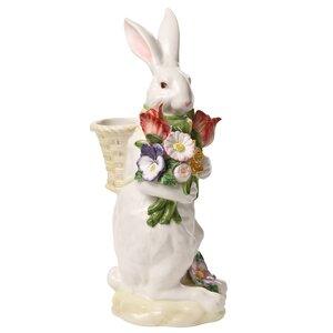 Spring Bunny Bows Floor Vase