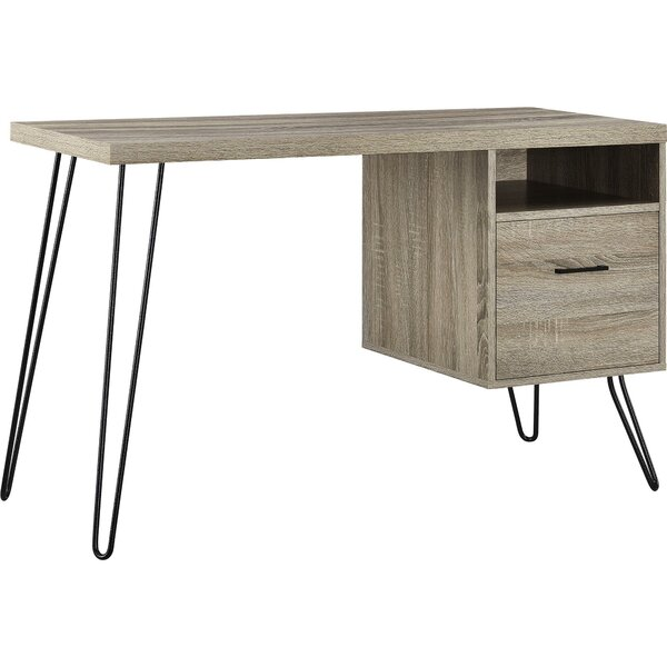 Oak Trendy White Desk Concepts AllModern