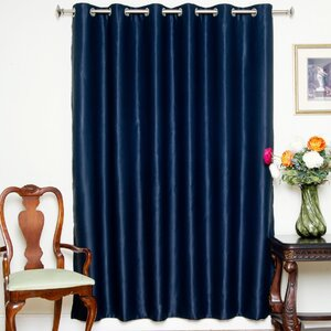Lakov Solid Blackout Thermal Grommet Single Curtain Panel