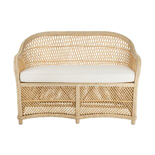 Grand Ridge Rattan Two Seater Loveseat With Armrest