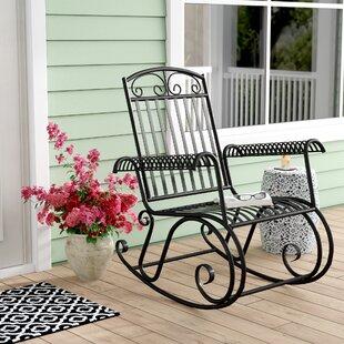 Nocona Iron Outdoor Porch Rocking Chair