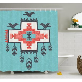 Delicieux Icons Birds Native American Decor Shower Curtain