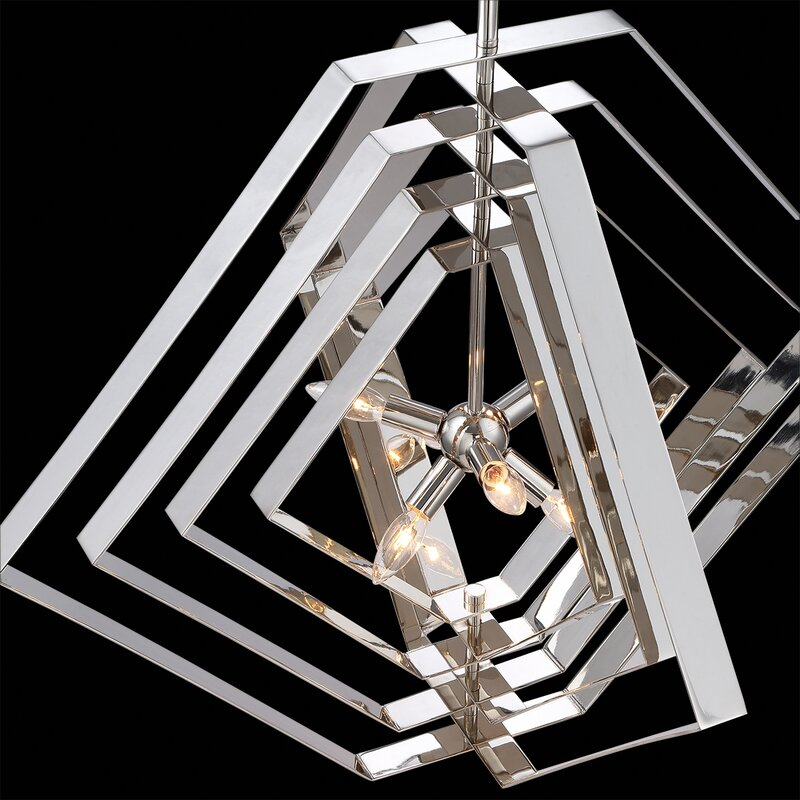 Orren Ellis Lenna 10 Light Candle Style Chandelier