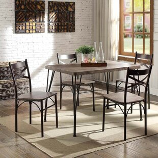 Marquez Transitional 5 Piece Solid Wood Dining Set