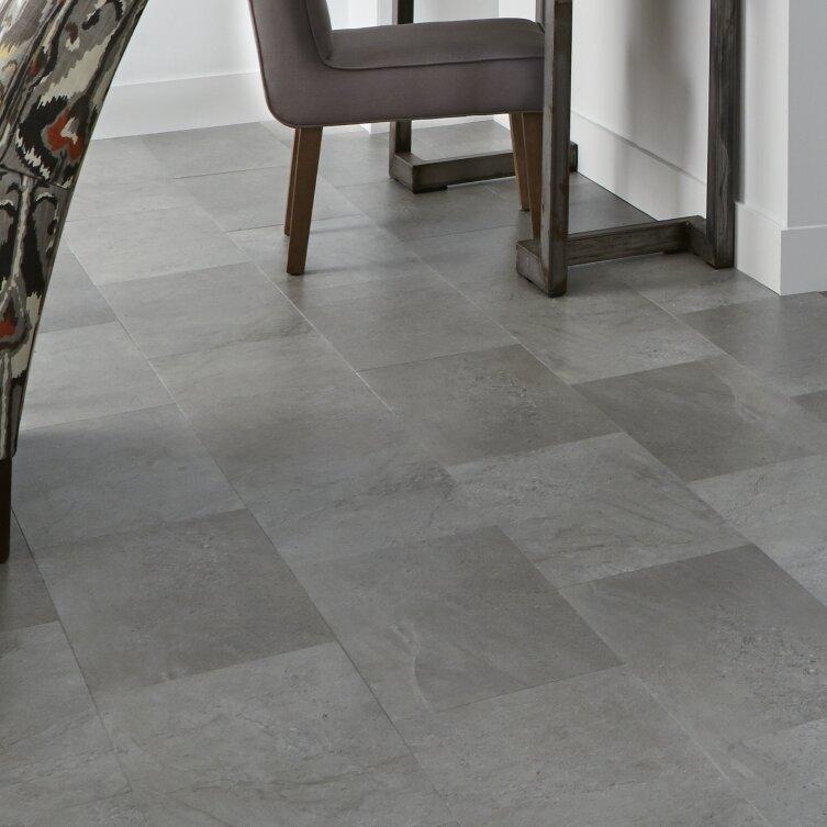"Mannington Adura Meridian Glue Down Resilient 12"" X 24"" X 4mm Luxury Vinyl Tile In Steel"