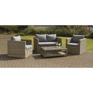 4 Sitzer Lounge Set Swindon Aus Rattan Mit Polster. Von Garten Living