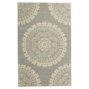 Goldwell Hand-Woven Wool Gray Area Rug