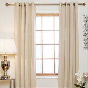 caples solid blackout thermal grommet curtain panels set of 2