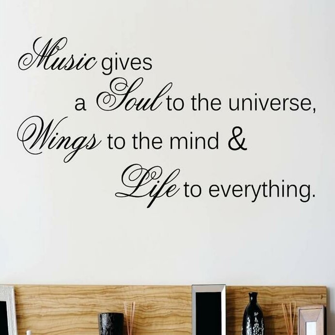 Music Gives A Soul To The Universe Wall Decal
