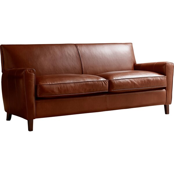 Wayfair All Modern: AllModern Custom Upholstery Foster Leather Sofa & Reviews