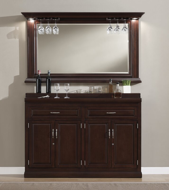 Darby Home Co Rachael Bar Cabinet with Wine Storage & Reviews ...