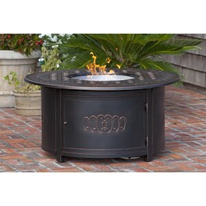 Dynasty Round Cast Aluminum LPG Fire Pit Table
