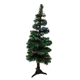 4 artificial spiral pine christmas tree with multi light