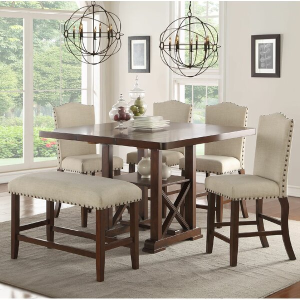Canora Grey Chevaliers 6 Piece Counter Height Dining Set U0026 Reviews | Wayfair