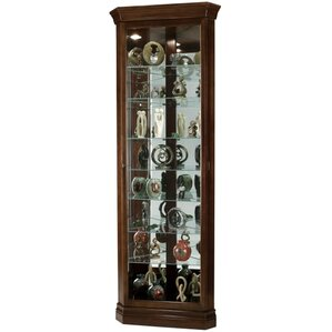 Drake Lighted Corner Curio Cabinet by How..
