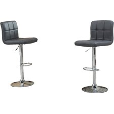 warsage adjustable height swivel bar stool set of 2 - White Leather Bar Stools