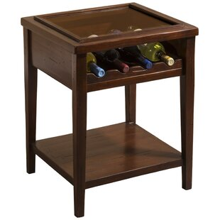 Kailyn 4 Bottle Floor Wine Bottle Rack