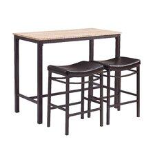 bezons 3 piece pub table set - Bistro Table Sets