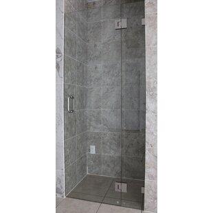 36 inch glass shower door wayfair 36 x 78 hinged frameless shower door by glass warehouse planetlyrics Gallery