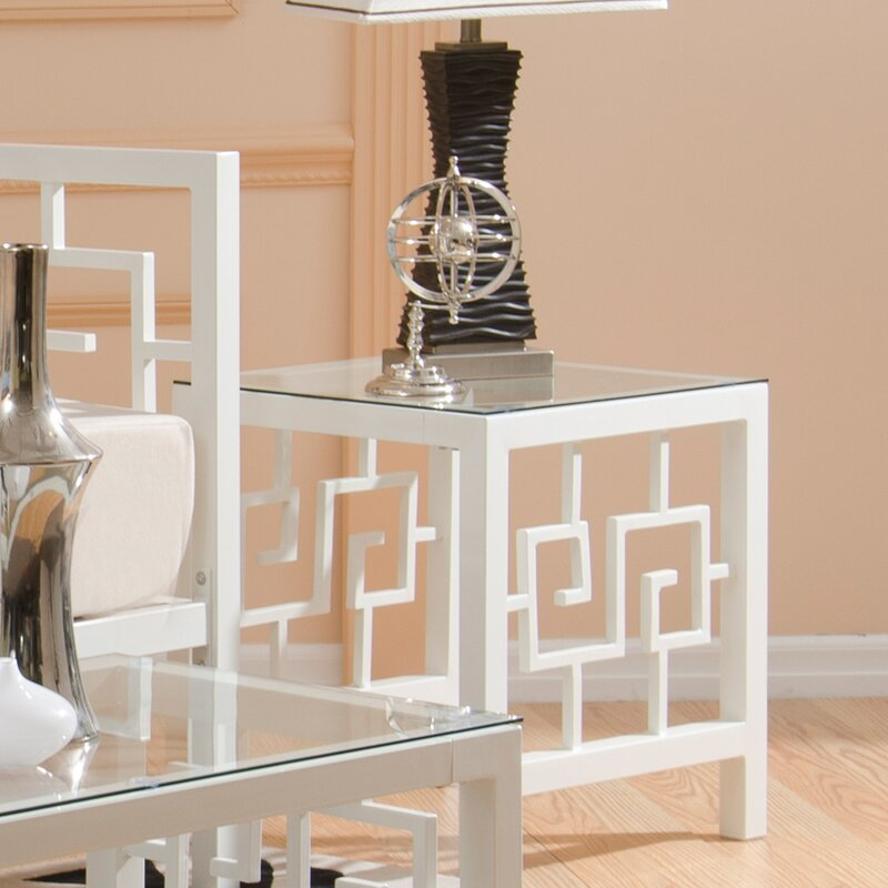 Attractive Greek Key End Table