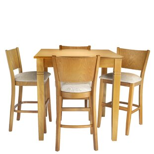 Hartline 5 Piece Pub Table Set Best