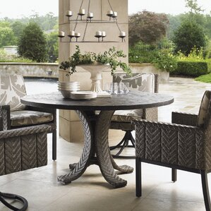 Blue Olive Swivel Patio Dining Chair With Cushion