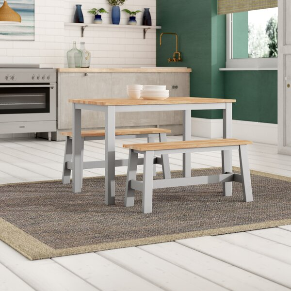 Breakwater Bay Beecher Falls Dining Set With 2 Benches