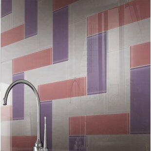 4 X 12 Gl Subway Tile In Purple