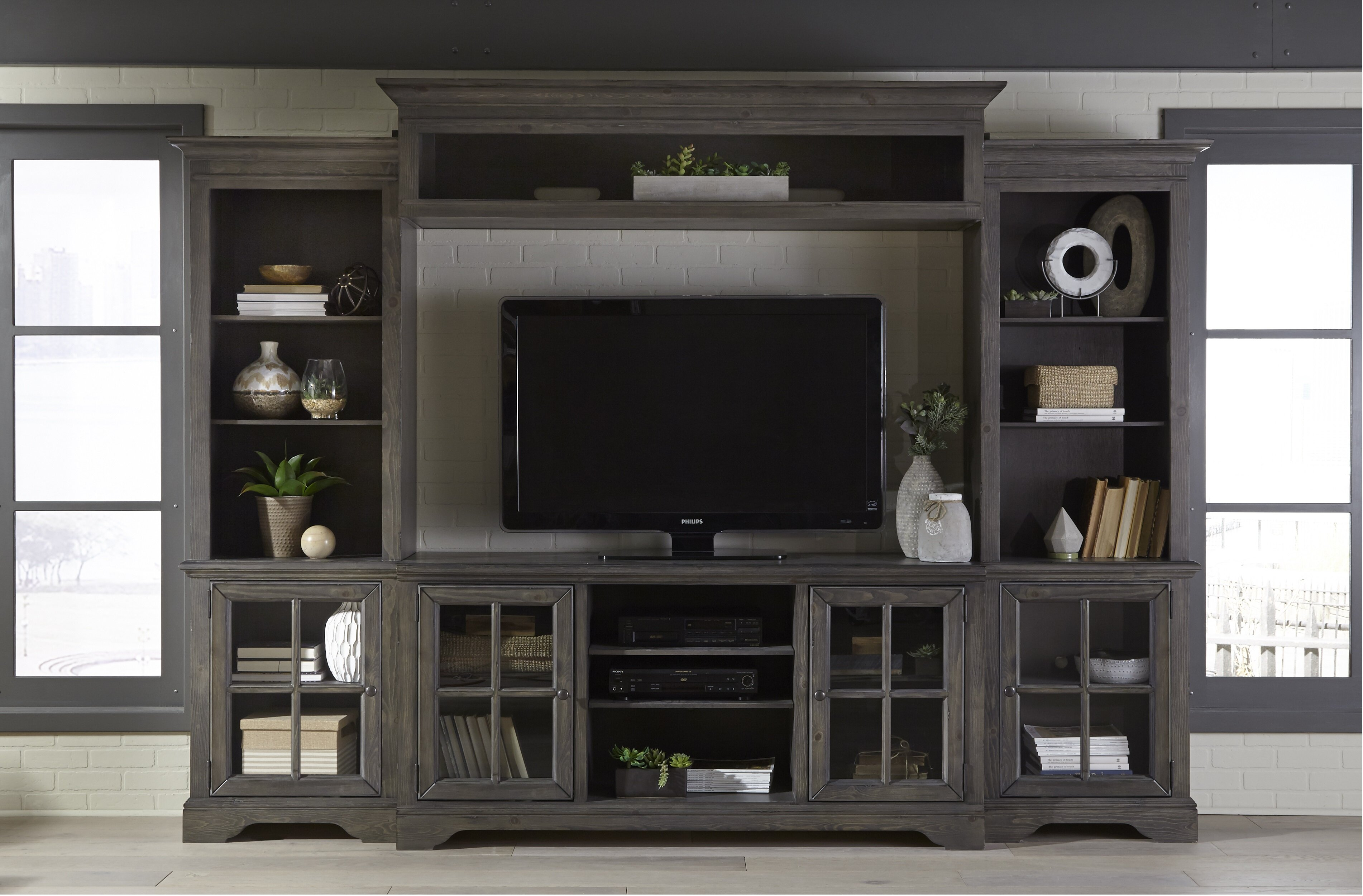 """Living Room Decorating Ideas With Entertainment Center three posts zurich entertainment center for tvs up to 75"""" & reviews"""