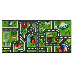 City Streets Non-Slip Kids Floor Mat