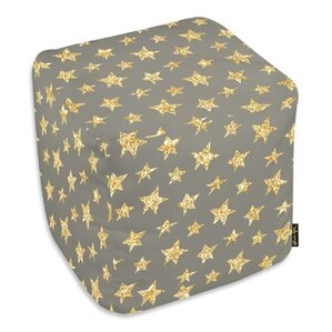 Corina Gold Stars Ottoman by Viv + Rae