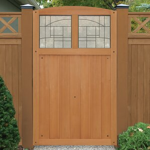 Baycrest 42  x 68  Gate with Faux Glass Insert & Fencing Youu0027ll Love | Wayfair pezcame.com