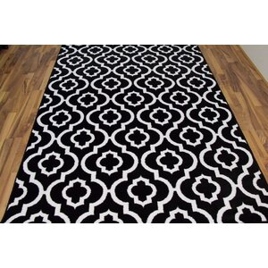 Spaulding Black/White Indoor/Outdoor Area Rug