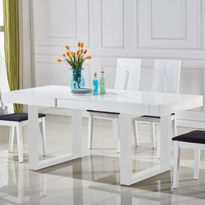 Dining Room Tables Extendable extendable kitchen & dining tables you'll love | wayfair