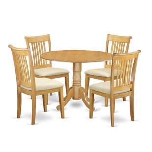 Spruill 5 Piece Drop Leaf Breakfast Nook Solid Wood Dining Set Best Choices